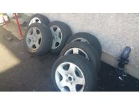 8x Audi Volkswagen BMW Alloys with Tyres for Sale