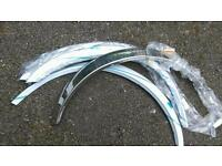 BMW E30 series, Chrome Wheel Arch Trims, brand new.