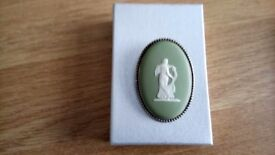 Wedgwood broach with silver edging