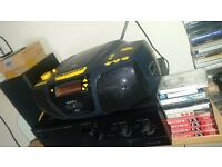 Good quality stereo Roberts dab radio with CD Player 10 free Cassette tapes & SD card for recording