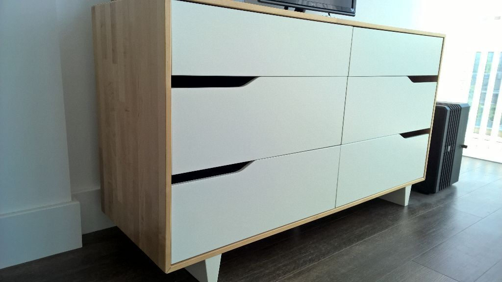 new ikea mandal chest of 6 drawers in london gumtree. Black Bedroom Furniture Sets. Home Design Ideas