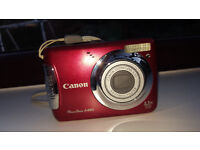 Canon PowerShot A480 IS 10.0 MP Digital Camera - Red