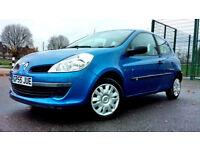 Superb Blue Renault Clio 1.2 Petrol, Manual, LOW MILAGE, MOT, LOW TAX, NEW DRIVER CAR