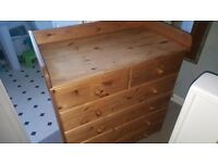 Chest of draws with baby change on top