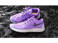 Purple Nike Free 5.0 Running Trainers - Size 6