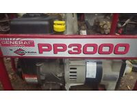 Petrol Generator - GENERAC PP3000- Delivery available see info