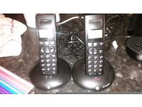 Two cordless house phones
