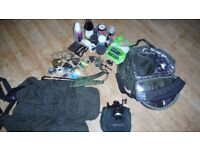 Fishing holdall cool bag scales carp end tackle bait job lot