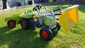 Klaas Kids Tractor and Trailer