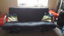 Double Sofa Bed (Black)