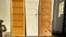 8 period wooden panelled doors