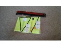 1 xl and 1 s/m highviz vests. Never worn. Also new warning triangle. Required when travelling abroad