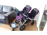 Baby Jogger City Select Travel System ( Double Pram, Double Pushchair, 2 x Car Seats)