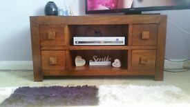 cherry wood. excellent condition tv unit