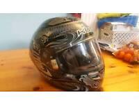 Large motorbike Helmet. Black