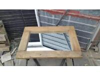Hand made rustic mirror (new)