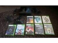 Xbox 360 Slim E 500gb console with 8x games