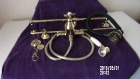 gold plated bath taps, and basin taps shower uit and caddy