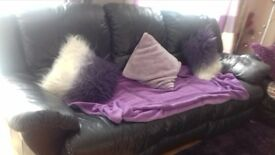 3 seater leather sofa