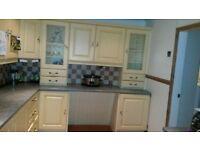 Lemon Shell finish kitchen units For Sale