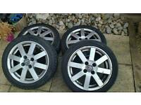 set of 4 original vw 15' inch alloys