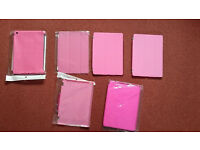 Apple iPad Air 1&2 6 pink smart cases/hard back covers. Inc screen protector and stylus *NEW*