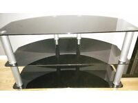 Contemporary Black glass TV Stand in great condition £15