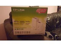 TP link powerline kit, wifi extender, easy setup