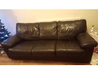 A lovely 3 seats Leather sofa bed in good condition, in used conditions.