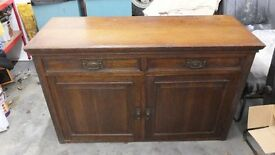 OLD OAK SIDEBOARD. (PRICE REDUCED).