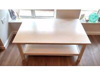 IKEA HEMNES White Coffee Table Solid Wood, 118x75 cm