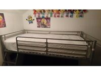 Bunk bed/futon £120 with top mattress £90 without.