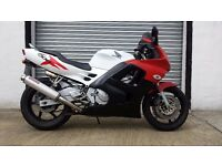 Honda CBR600F CBR600 F CBR 600 F motorcycle. Red, white and black.