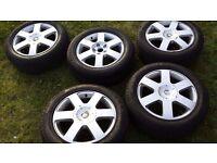 octavia, passat , golf , audi a4, a6 , 205/55/16 alloys with pirelli tyres 5x112