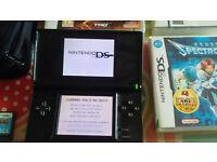 Nintendo DS Lite - Onyx Black Bundle 5 Games Charger & Carry Case