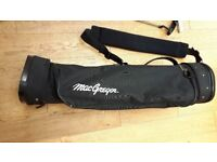 McGregor golf bag with assortment of clubs