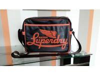 Superdry Alumi Messenger Bag/Satchel in Brown and Orange