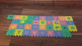 Foam alphabet and numbers puzzle for kids