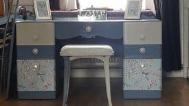Vintage dresser with stool