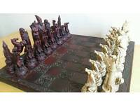 Fantasy Chess Set & Board (Dragons & Wizards etc)