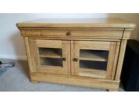 Oak tv unit from Toons Furnishers