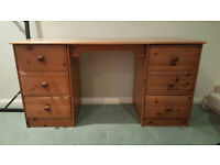 Wooden dressing table with 6 draws excellent condition