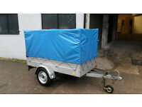 7x4 galvanised trailer with cover