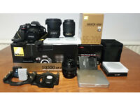 Nikon D3300 + Sigma 17-50 f2.8 + Nikon 55-200 vrii + filters & more! (Offers welcome)