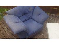 Blue sofa armchair