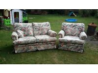 2 seat sofa and chair