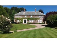 DEVON HISTORIC COUNTRY MANOR HOUSE FOR SALE WITH LAND, RIPARION FISHING, TITLED