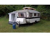 Vintage Retro Otten Pop Top Touring Caravan 2 double beds