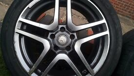 Set Of Four 18'' MERCEDES STYLE AMG ALLOY WHEELS with Tyres