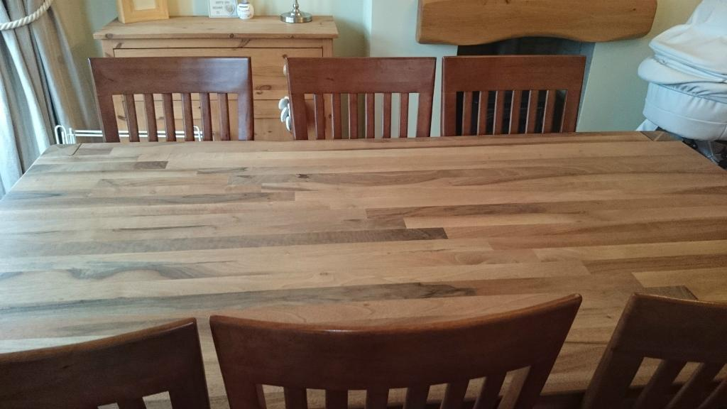 beautiful solid walnut table with 8 chairs united kingdom gumtree